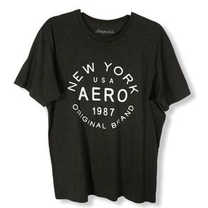 Aeropostale New york 1987 Charcoal Gray Graphic T